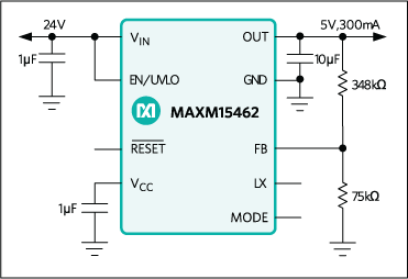 Maxim MAXM17532 & MAXM15462 Block Diagram
